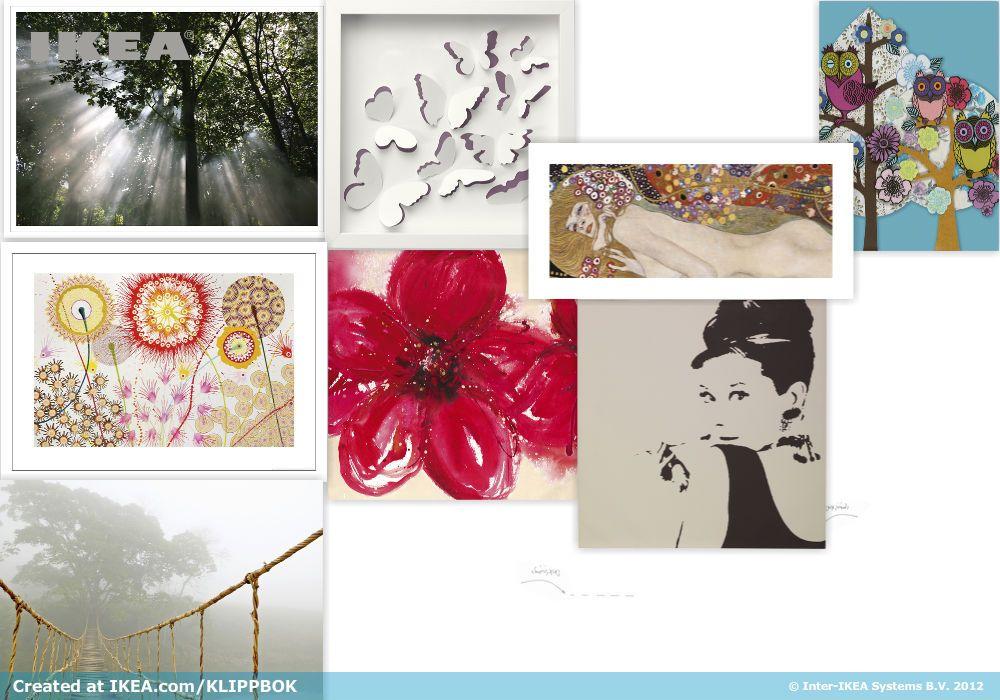 Artworks, created with IKEA Australia's moodboard tool #KLIPPBOK.