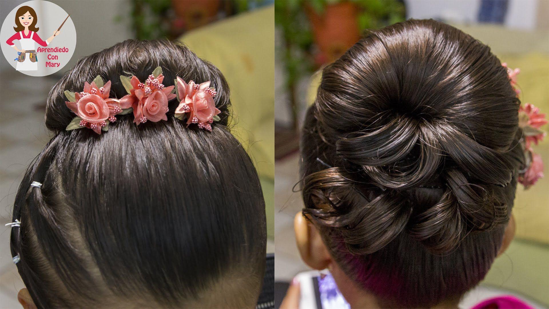 Peinado Para Presentacion De Tres Anos Facil Y Rapido Kids Hairstyles Girl Hair Dos Princess Hairstyles