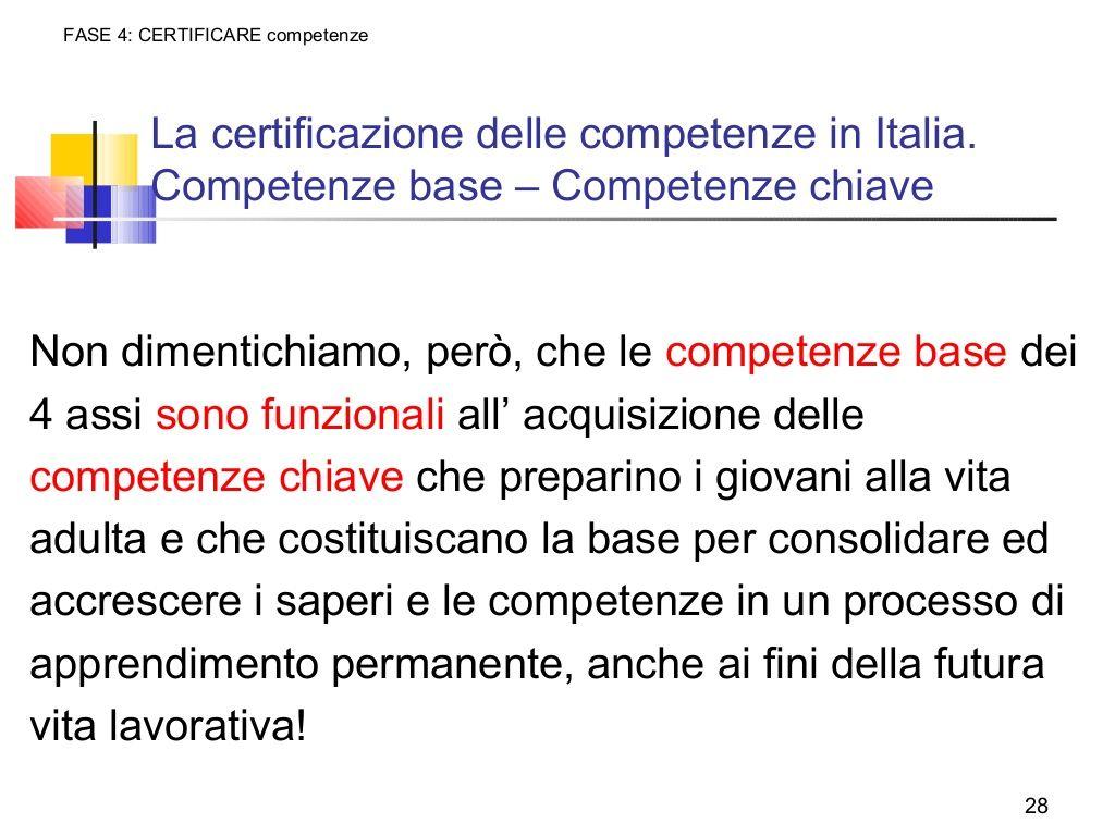 Fase 4 Certificare Competenzela Certificazione Delle Competenze