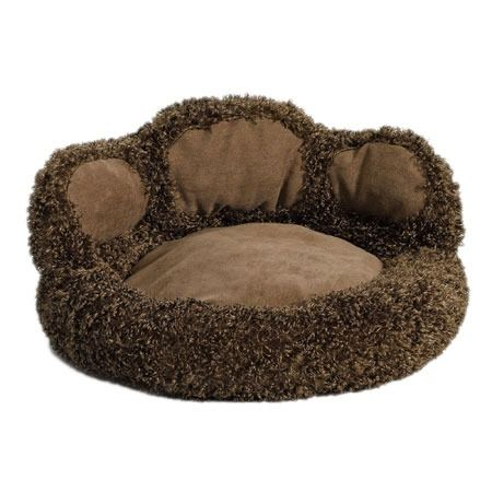 I pinned this Bear Paw Dog Bed from the Creature Comforts event at Joss and Main!   If you have a little dog, this is as cute as can be!  And dogs like to have something behind their backs.