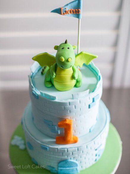 Dragon / Castle Birthday Cake