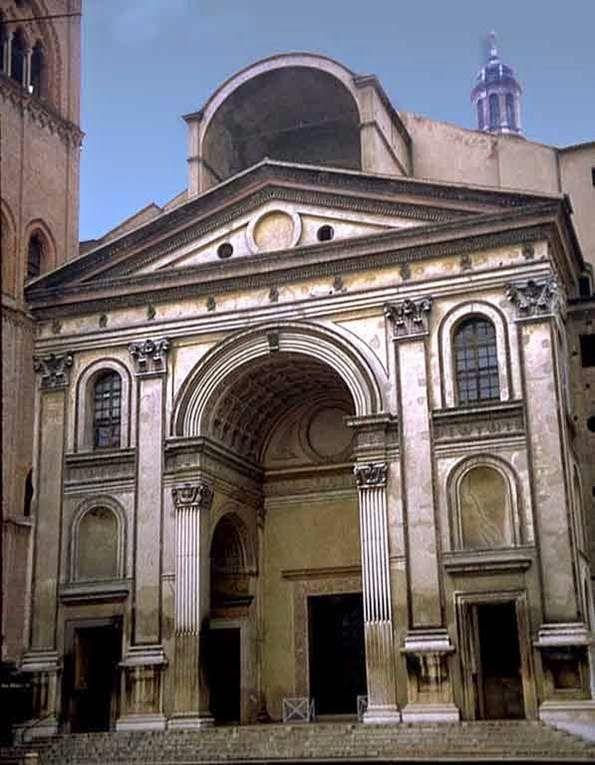 Fachada de s andr s en mantua alberti arquitectura y for Architecture quattrocento