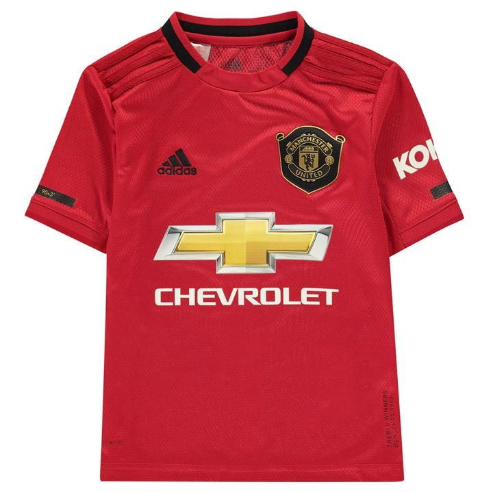 Adidas Manchester United Home Shirt 2019 2020 Junior Mufc Football Kit Manchester United Manchester United Shirt Manchester United Away Kit