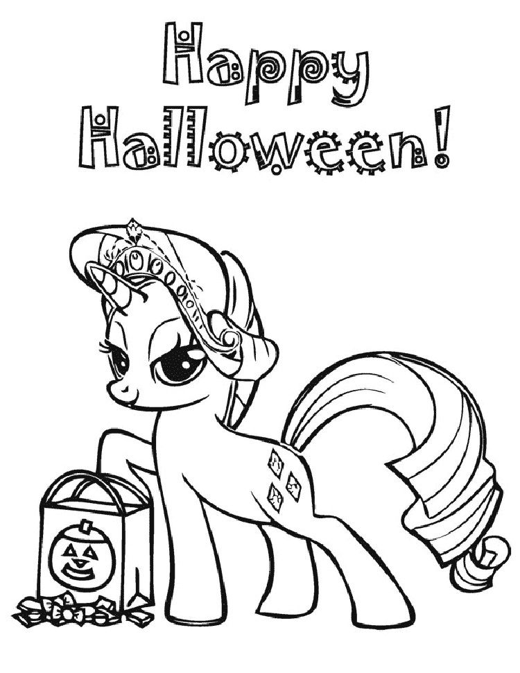 my little pony coloring pages halloween | Coloring Pages For Kids in ...
