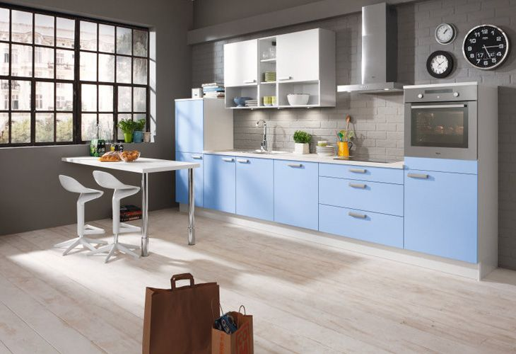 Simple Hellblaue K che von Pino by ALNO Light blue kitchen by Pino ALNO