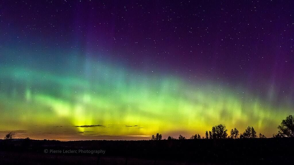 Gorgeous shot of the Northern lights in Quebec (Photo/Pierre Leclerc)