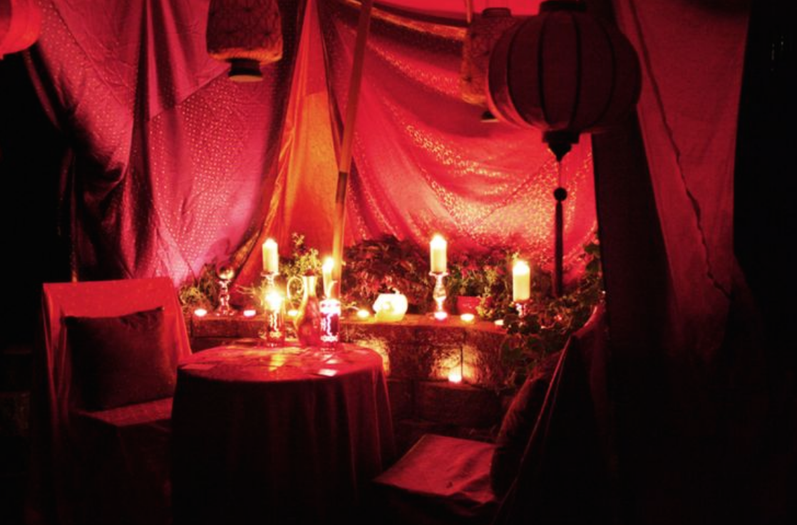 Room & astrology / palm reading / tarot card tent | Burning Man Ideas ...