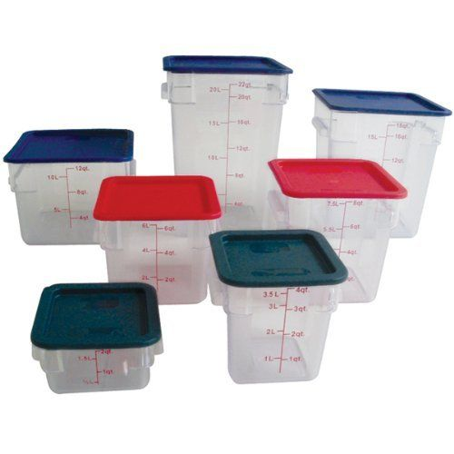 Clear Food Storage Square Polycarbonate Containers with Lid Included