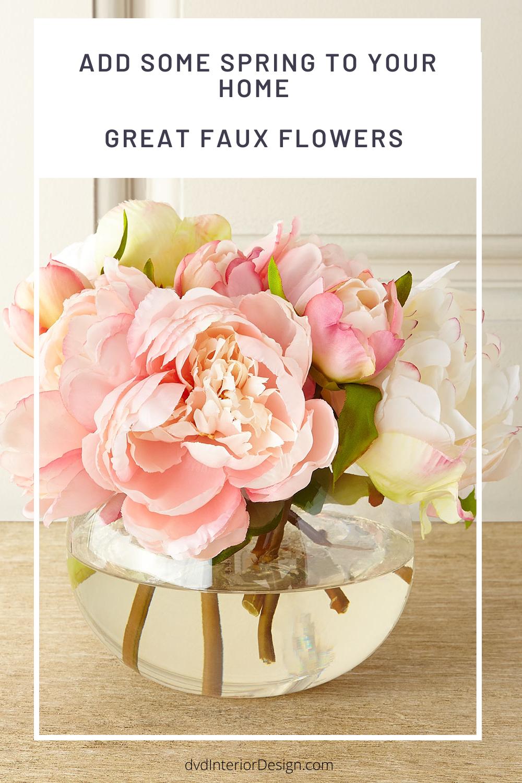 Flower Power The Best Faux Flowers And Botanicals In 2020 Faux Floral Arrangement Faux Flowers Faux Flower Arrangements