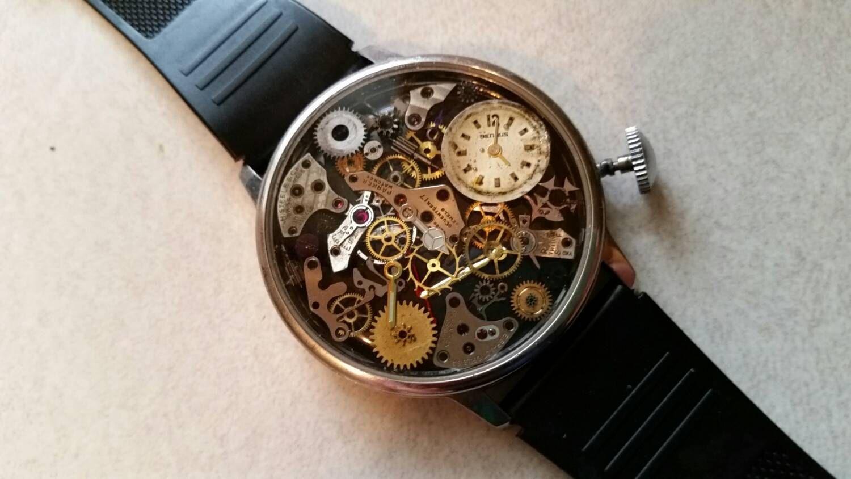Watch wrist parts - Steampunk Watch Wrist Watch Antique Watch Parts Ruby Parts Illuminated Hands