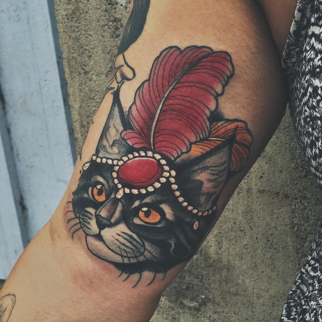 Circus Cat For Emilie Thanks Tattoos New School Tattoo Old School Tattoo