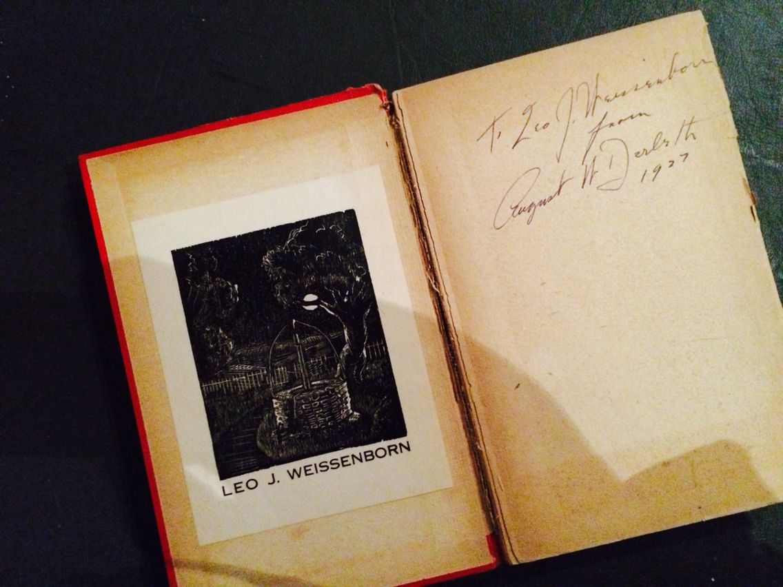 You'll Need a Nightlight - Editor: Christine Campbell Thomson • September 1927 Signed to Leo Weissenborn - The Architect who built 'Place of Hawks' - Arkham House's base of operations as well as being Derleth's house.