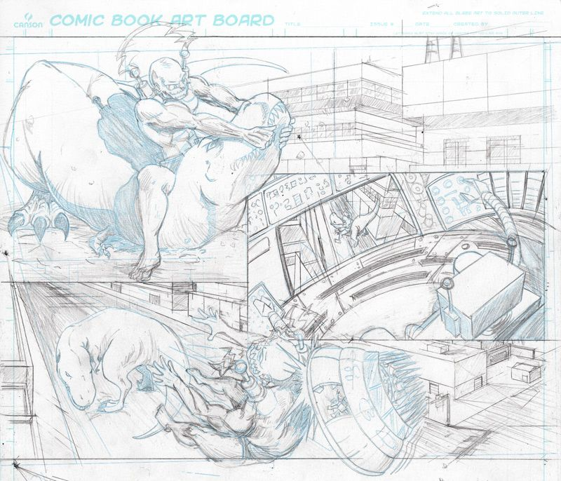 Wrestling With Dinosaurs; New Strength Monsters Panel Ready For Inking