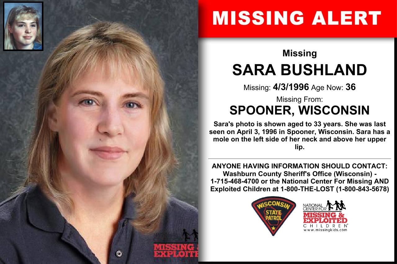 SARA BUSHLAND, Age Now: 36, Missing: 04/03/1996  Missing
