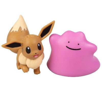 Ditto Pokemon Charizard Cubone /& Pikachu 3-Inch Figure 5-Pack Eevee