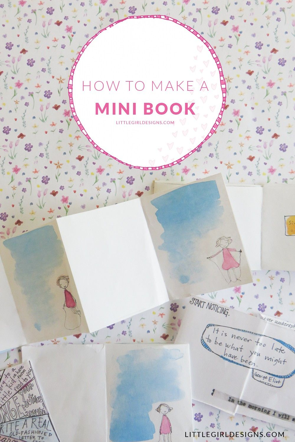How To Make A Mini Book Out Of One Sheet Of Paper Mini Books