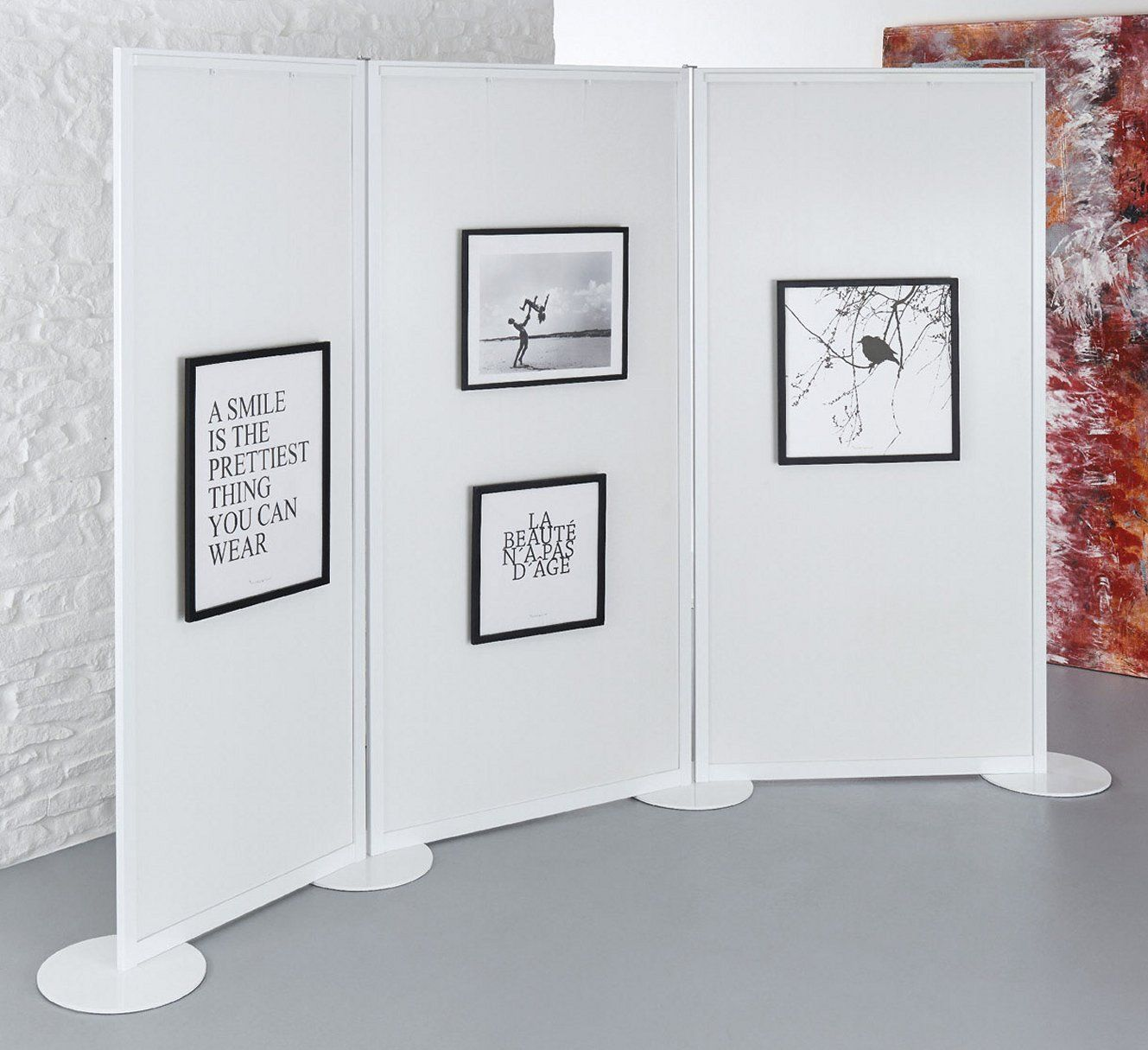 Galerie Stellwand Zum Aufhängen Von Bilderrahmen Winkelvariable Verkettbar Stellwand Wand Raumteiler