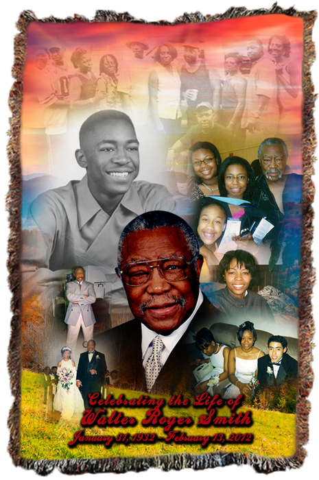 funeral collage memorial blanket up to 9 pics can be displayed on