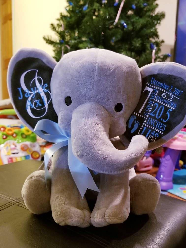 Personalized Elephant Newborn Gift Newborn Personalized Gift