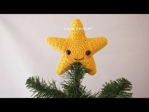 Tutorial De Amigurumis Navideños : Canal crochet estrella amigurumi tutorial canal crochet