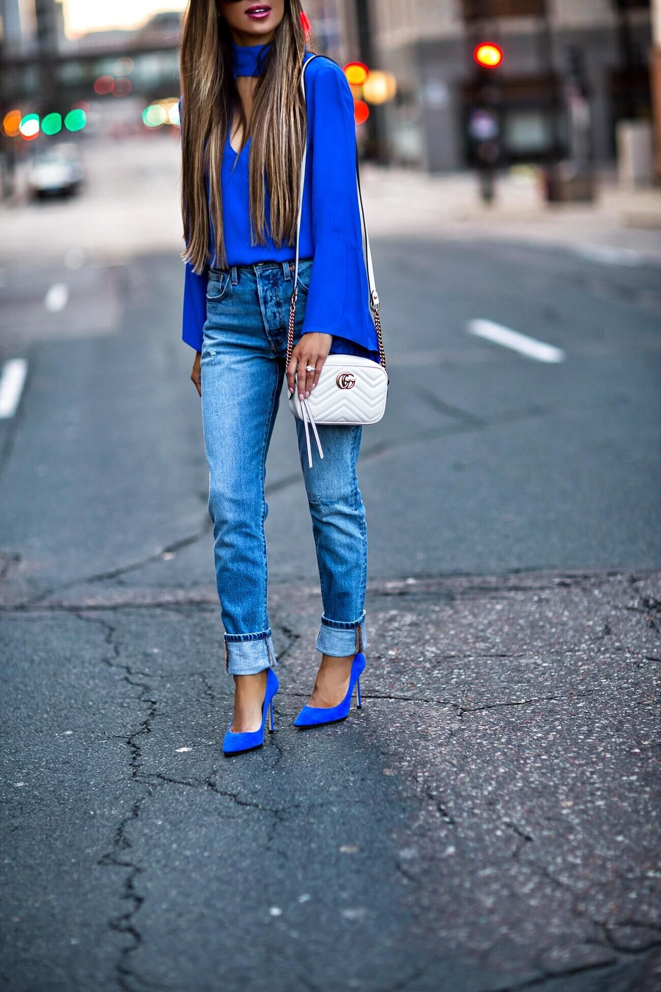72206effdf2d fashion blogger mia mia mine wearing jimmy choo suede heels and a gucci  marmont mini bag