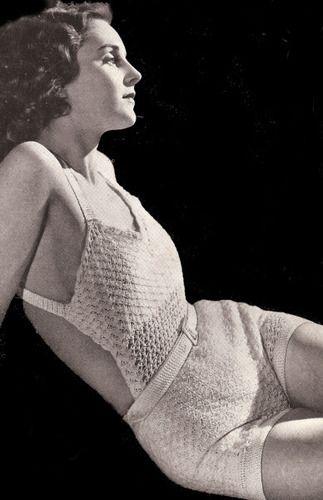 Vintage Crochet Sun suit Halter Shorts Swimsuit Pattern Sunsuit ...