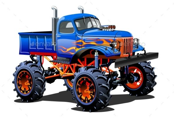 Cartoon Monster Truck Monster Trucks Cartoon Monsters