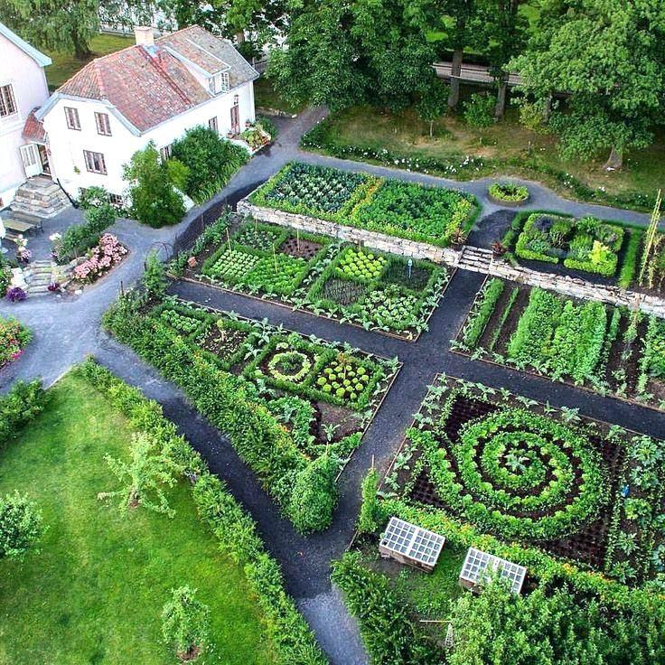 Potager Garden Design Ideas: Impressive Potager Designs For Vegetable Gardens Picture
