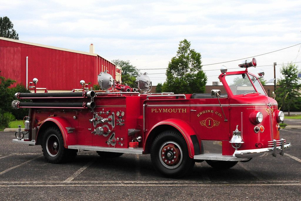 1963 American Lafrance Type O-11A Fire Truck Old Photo