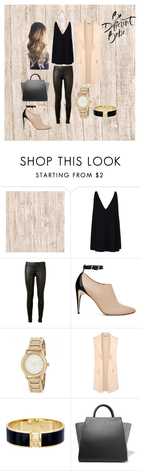 """""""Different babe"""" by jazzwild on Polyvore featuring moda, STELLA McCARTNEY, AG Adriano Goldschmied, DKNY, WearAll, Alexander McQueen y ZAC Zac Posen"""