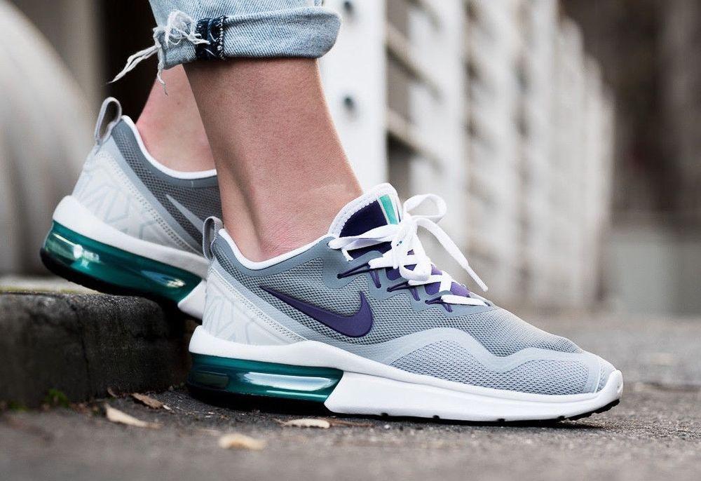 Nike AIR MAX FURY Women s Running Shoe - AA5740 Gray Purple size 8.5 -  120 e525723eb