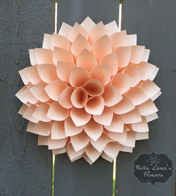 Paper Flower Dahlia