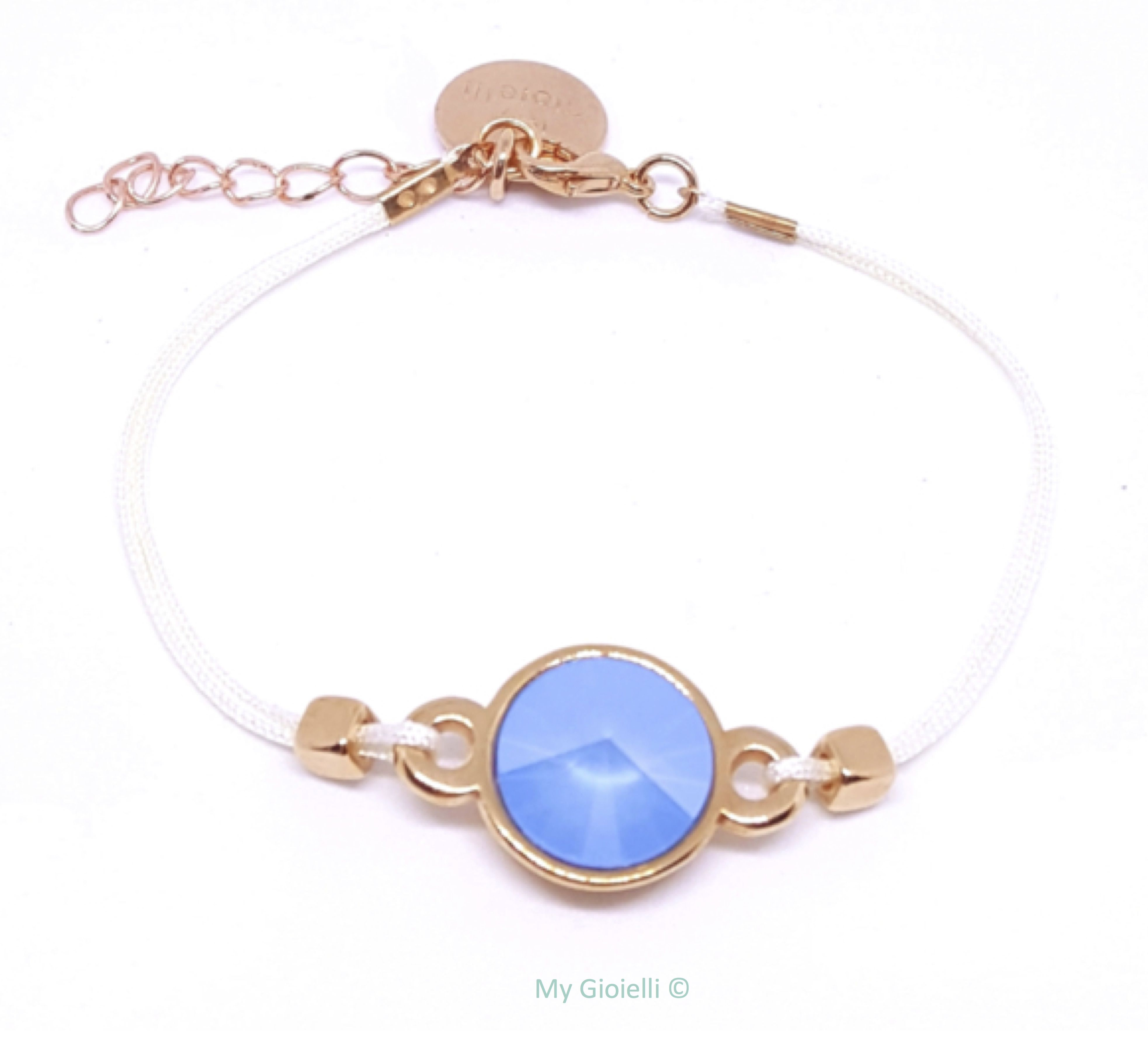 Bracelet swarovski blue rose gold my gioielli my gioielli
