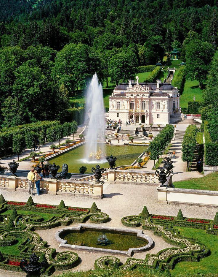Pin Dorasboards Insta Isidoramitri Tumblr Hispanophile Germany Travel Inspiration Schloss Linderho Schloss Linderhof Linderhof Schlosser Deutschland