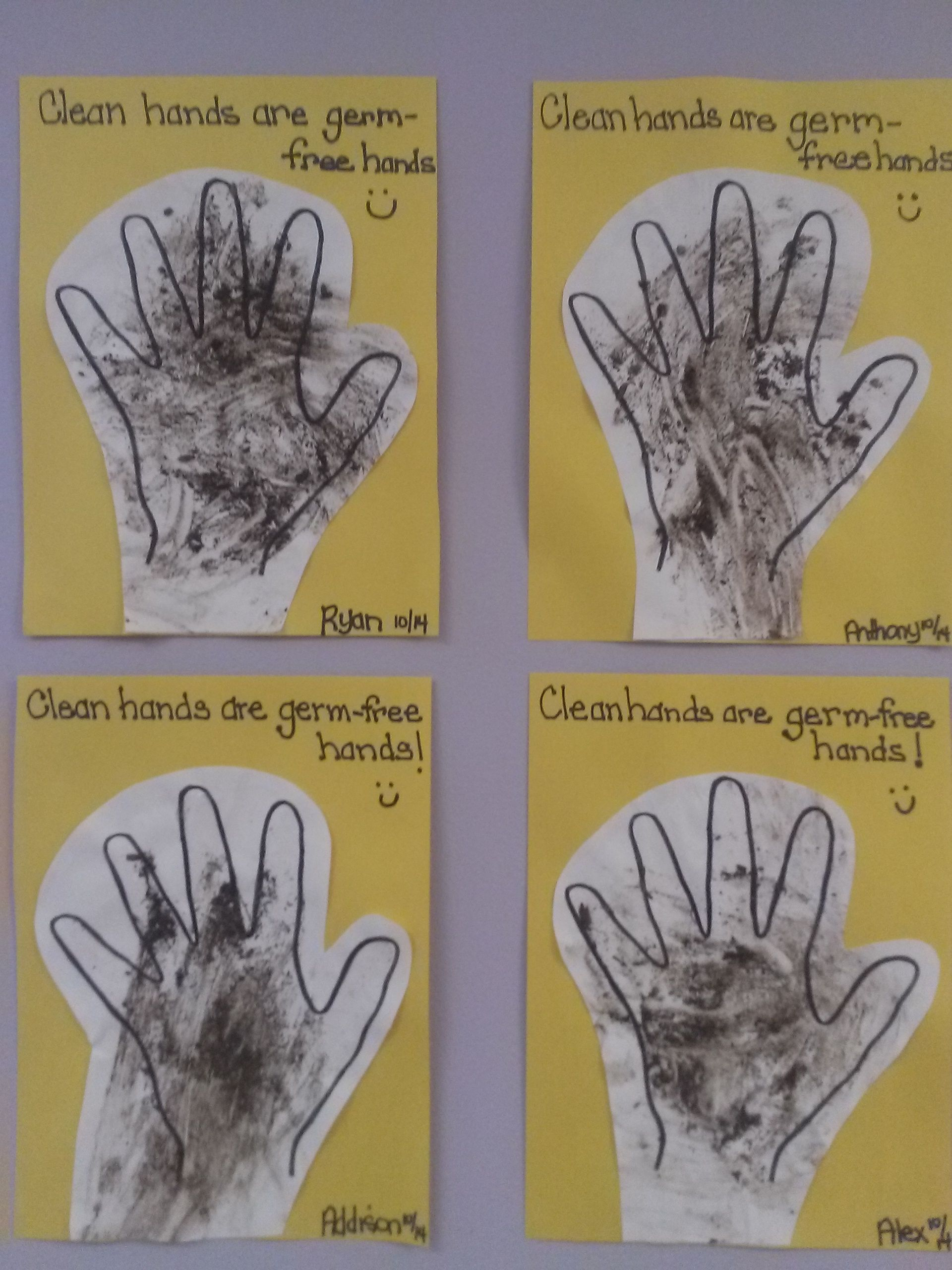 Germ Free Hands Infant Art Activity