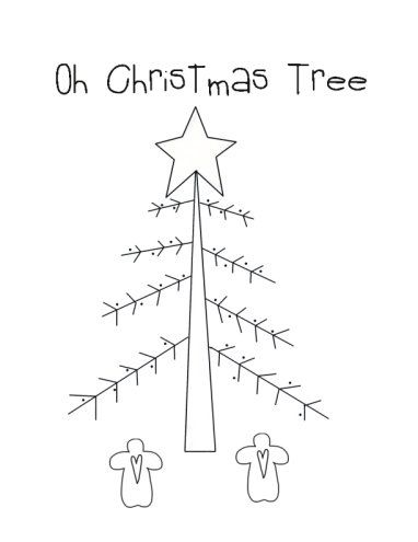 Christmas Trees Coloring Page - Oh Christmas Tree | Sewing camp ...