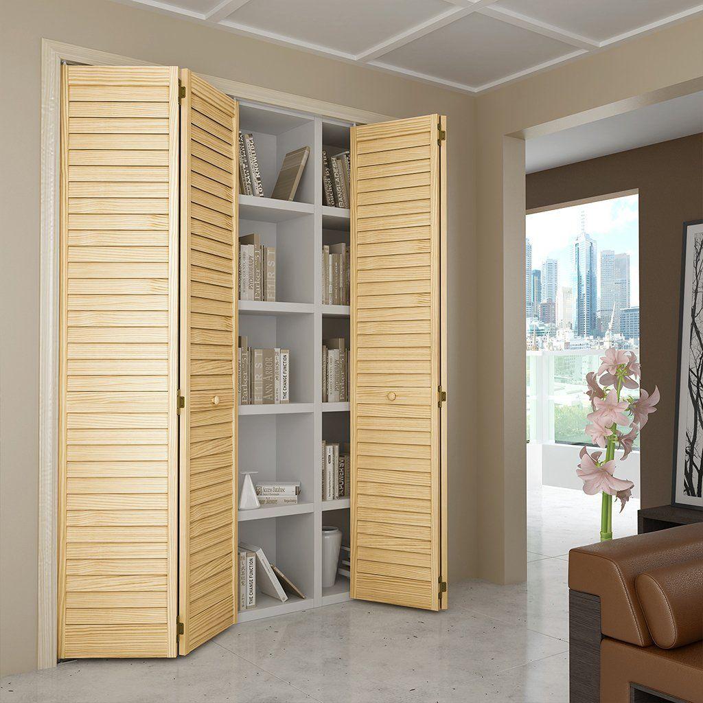 Closet Door, Bi-fold, Kimberly Bay® Plantation Louver-Louver…