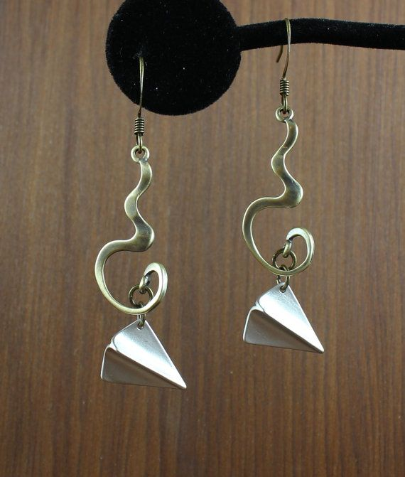 Silver Paper Airplane earrings