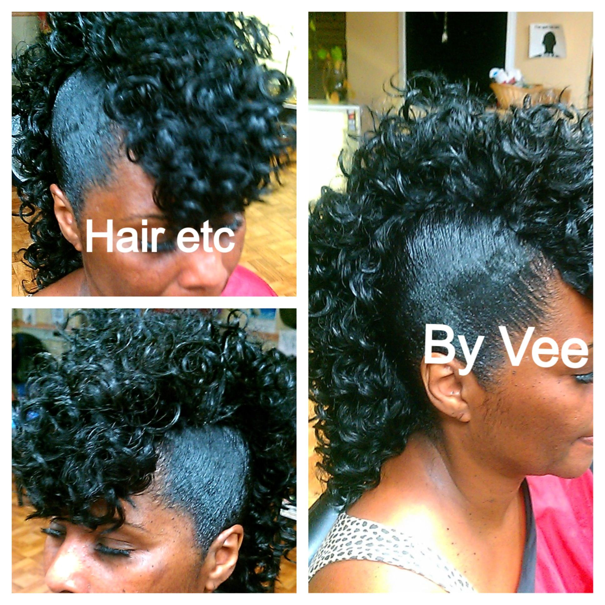 quick weave mohawk   cute hair styles   natural hair styles