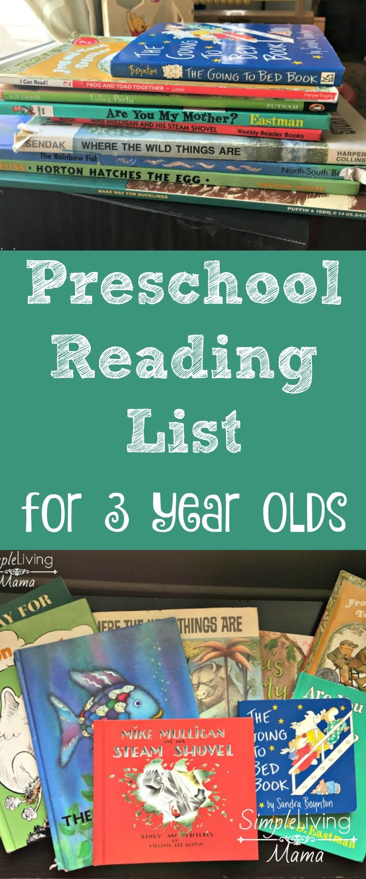 Preschool Book List for 3 Year Olds | SimpleLivingMama.com ...