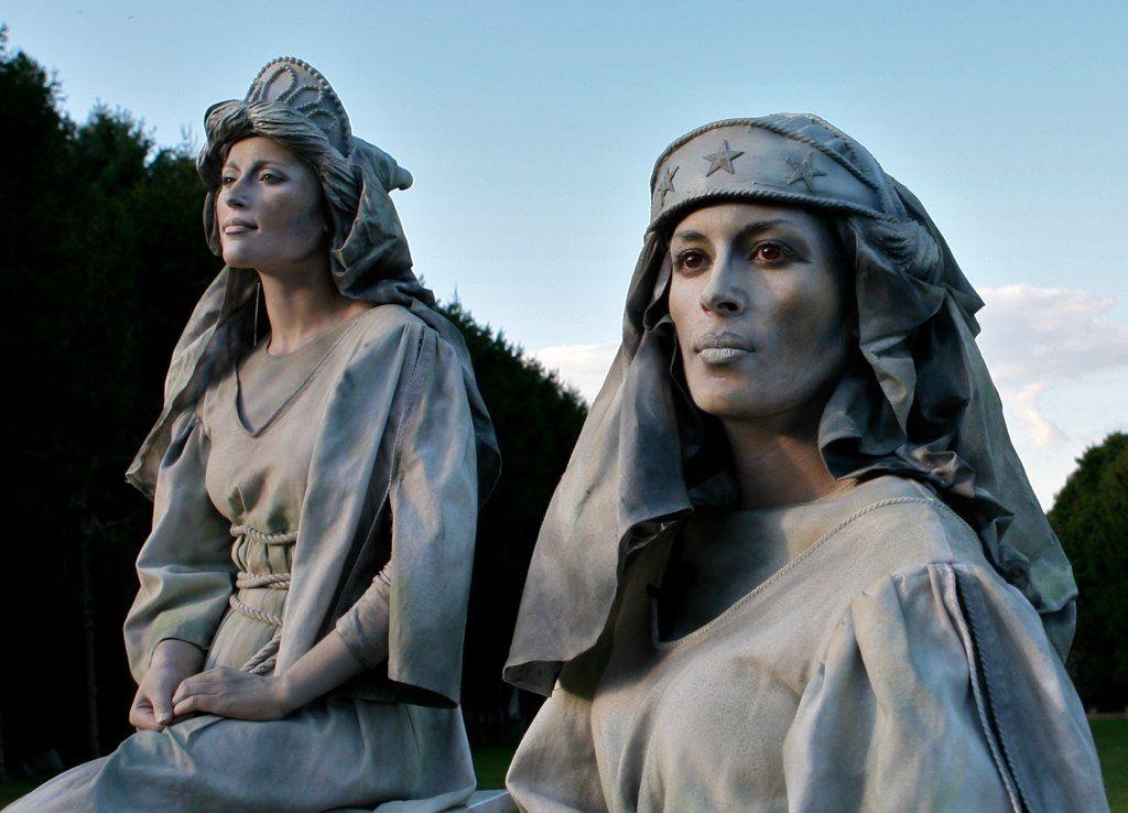 Living Statue White Marble Muses - wemakepretend.com