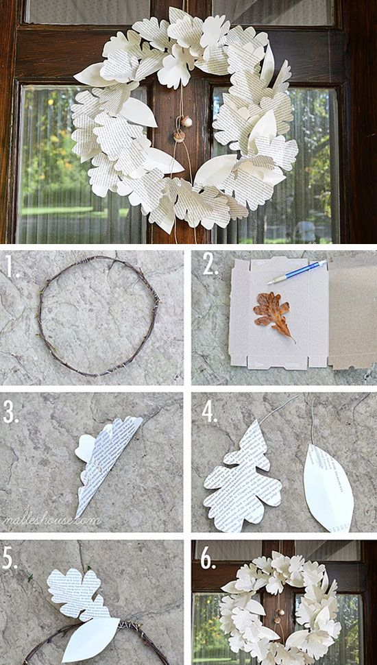 Diy Paper Leaf Wreath 35 Diy Fall Decorating Ideas For The Home