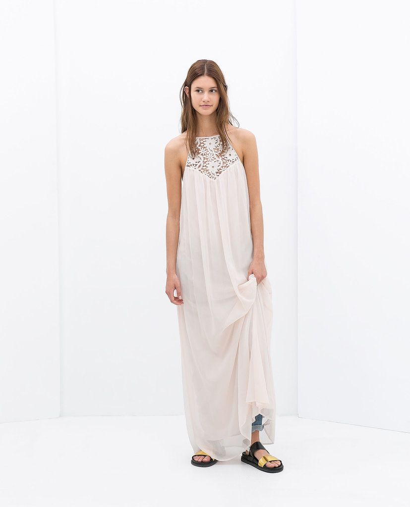 Zara Embroidered Maxi Dress
