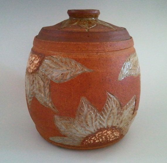 Wheelthrown Lidded Jar Canister For Cookies By Northwindpottery 80 00 Pottery Clay Design Jar Lids