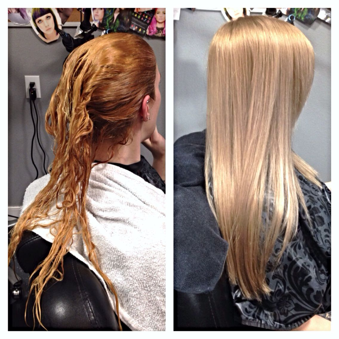 Massive Corrective Color For This Natural Blonde Who Has Box Dyed