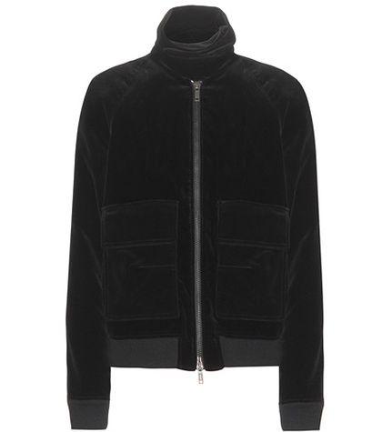 Black HAIDER ACKERMANN  bomber jacket  for woman Black Velvet Bomber Jacket By Haider Ackermann #chaquetabomber #bómber #bombers