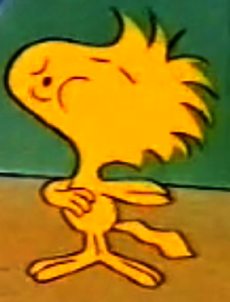 woodstock from charlie brown images | Woodstock whistles when the cassette player malfunctions.