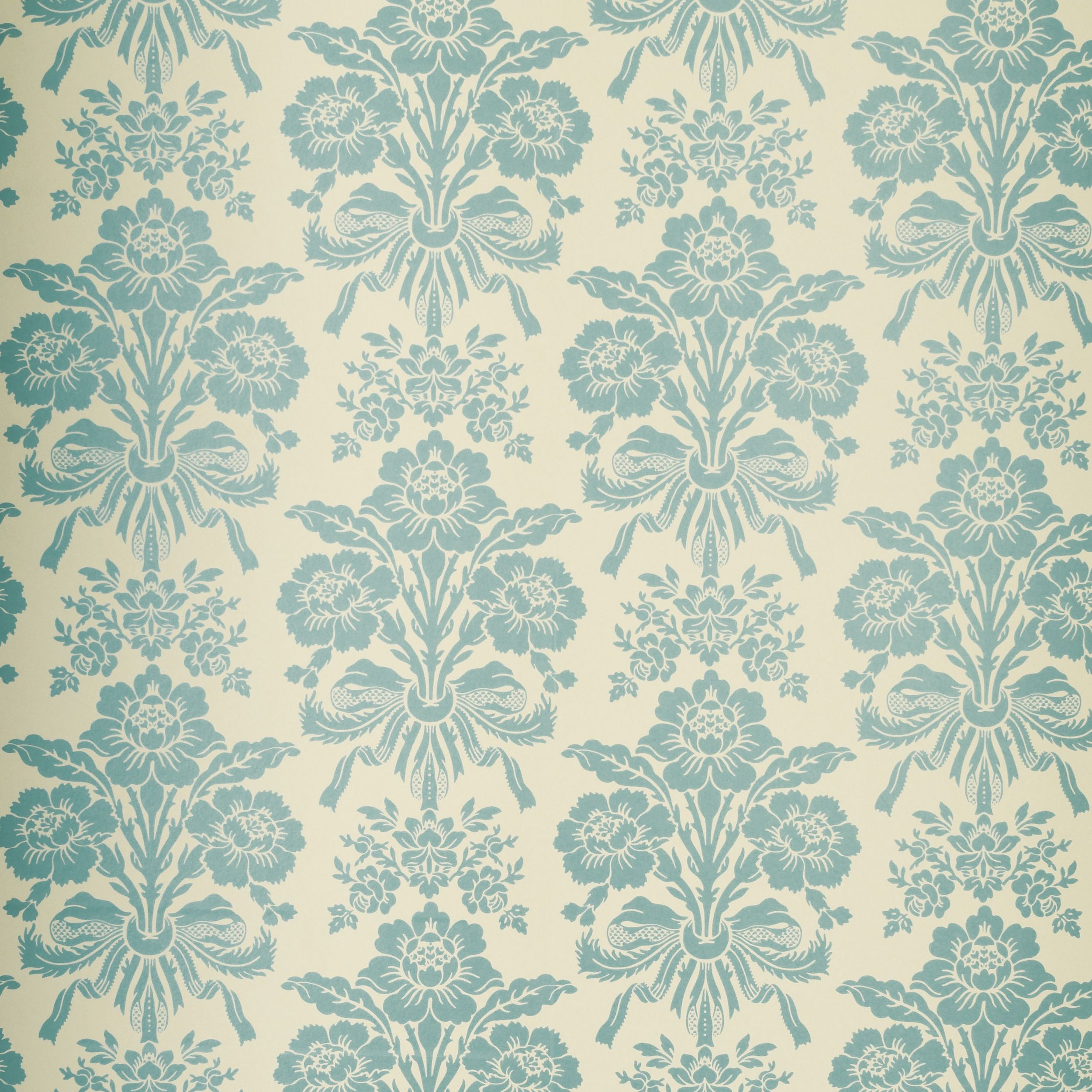 Tatton teal damask wallpaper at laura ashley patterns for Damask wallpaper