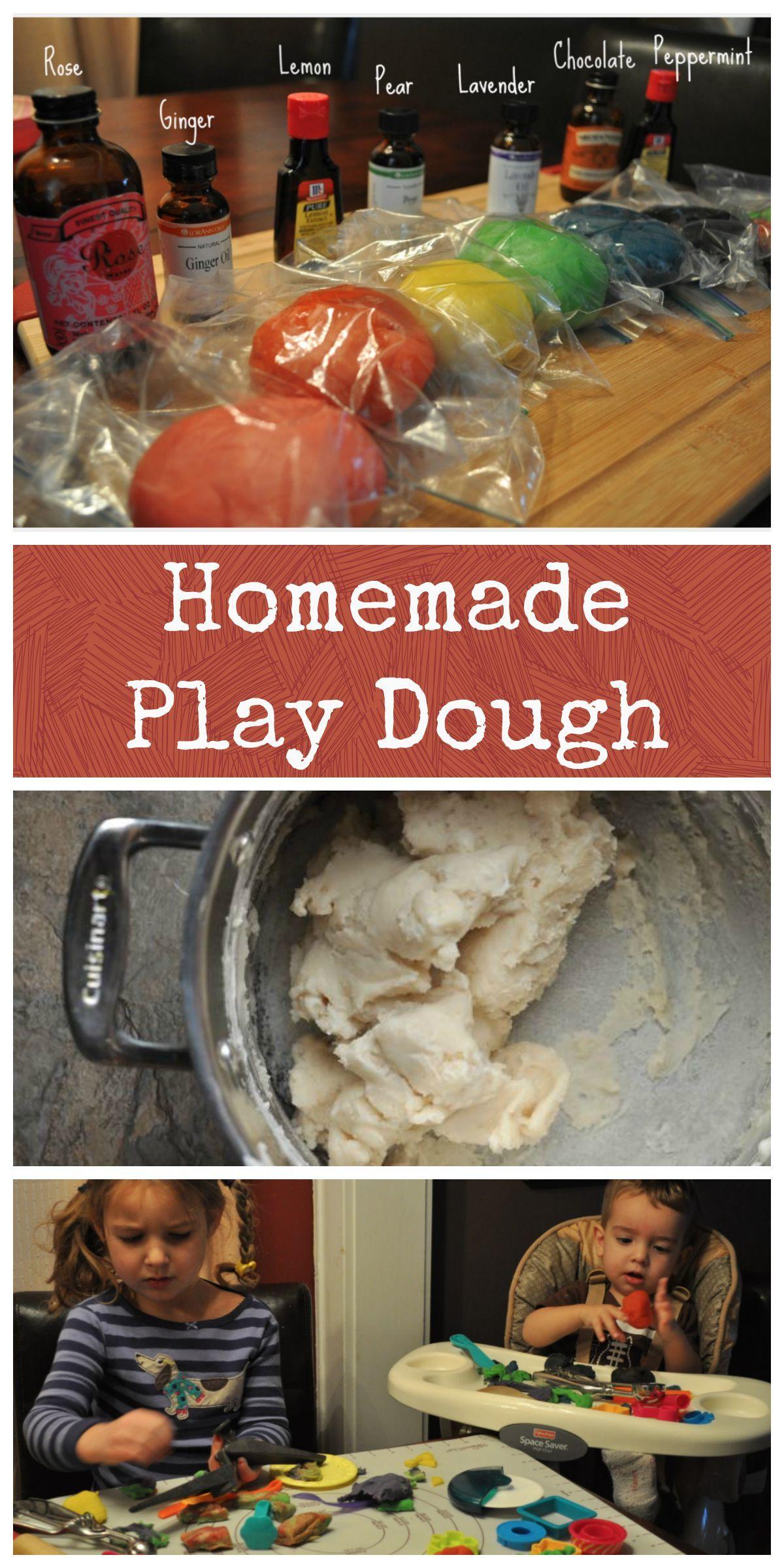 Homemade Playdough Recipe Homemade playdough, Easy