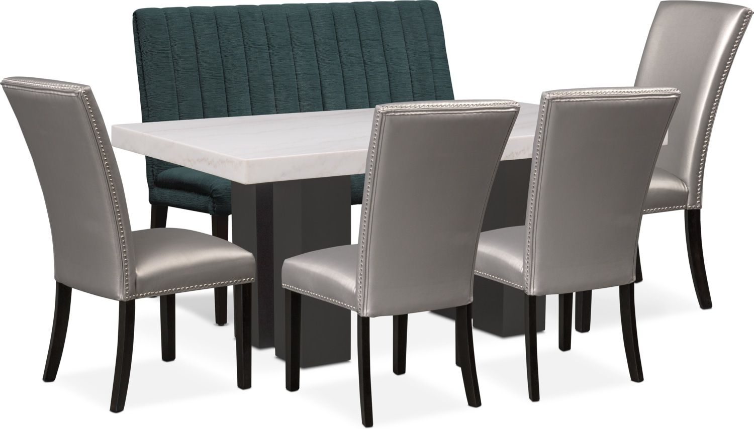 Prime Artemis Marble Dining Table 4 Upholstered Dining Chairs Bralicious Painted Fabric Chair Ideas Braliciousco